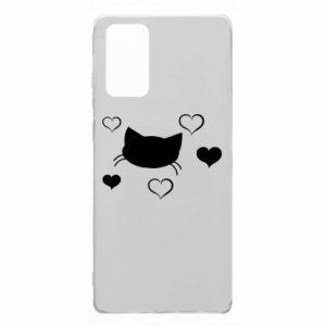 Samsung Note 20 Case Cat in love