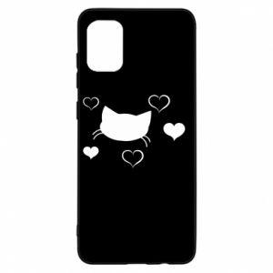 Samsung A31 Case Cat in love