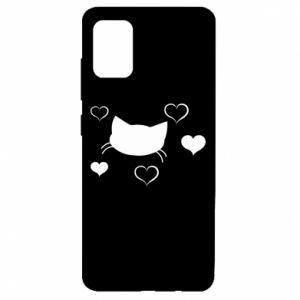 Samsung A51 Case Cat in love
