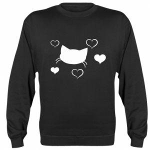 Sweatshirt Cat in love