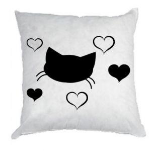 Poduszka Zakochany kot