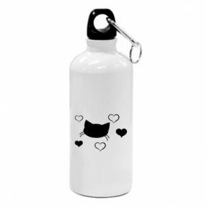 Water bottle Cat in love