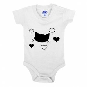 Baby bodysuit Cat in love