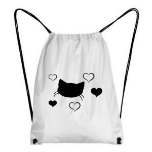 Plecak-worek Zakochany kot