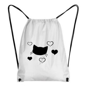 Backpack-bag Cat in love