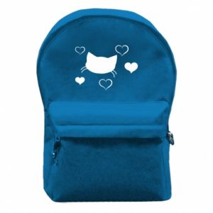Backpack with front pocket Cat in love