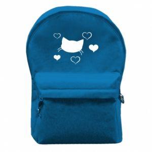 Plecak z przednią kieszenią Zakochany kot