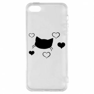 Phone case for iPhone 5/5S/SE Cat in love