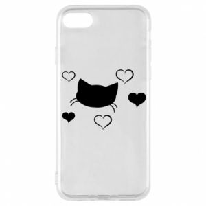 Phone case for iPhone 8 Cat in love