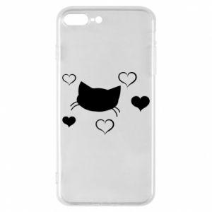 Phone case for iPhone 8 Plus Cat in love