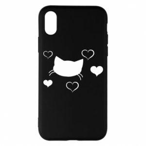 Phone case for iPhone X/Xs Cat in love