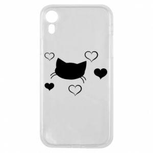 Phone case for iPhone XR Cat in love