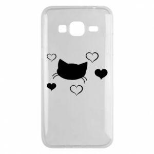 Phone case for Samsung J3 2016 Cat in love