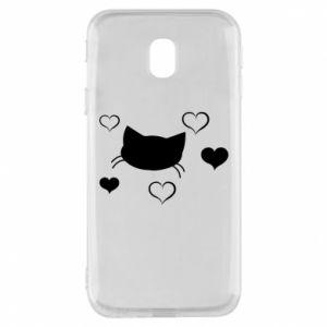 Phone case for Samsung J3 2017 Cat in love