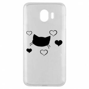 Phone case for Samsung J4 Cat in love