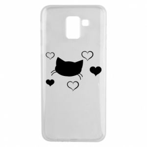 Phone case for Samsung J6 Cat in love