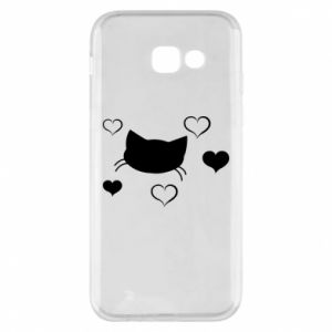 Phone case for Samsung A5 2017 Cat in love
