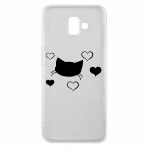 Phone case for Samsung J6 Plus 2018 Cat in love