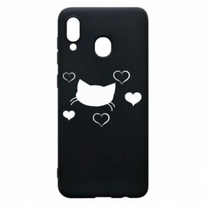 Phone case for Samsung A30 Cat in love