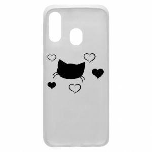 Phone case for Samsung A40 Cat in love