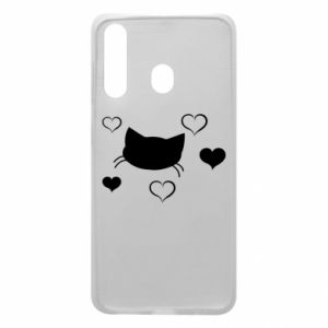 Phone case for Samsung A60 Cat in love