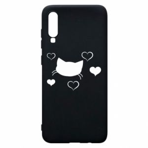 Phone case for Samsung A70 Cat in love