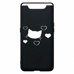 Phone case for Samsung A80 Cat in love