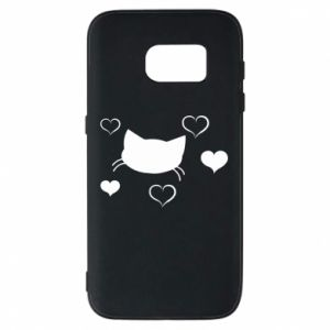 Phone case for Samsung S7 Cat in love