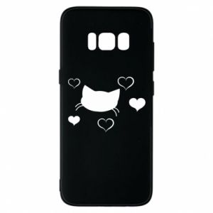 Phone case for Samsung S8 Cat in love