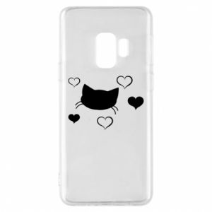 Phone case for Samsung S9 Cat in love