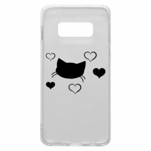 Phone case for Samsung S10e Cat in love