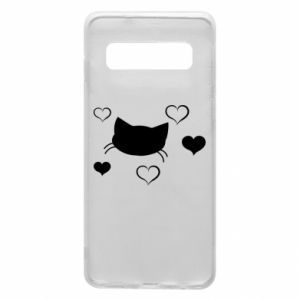 Phone case for Samsung S10 Cat in love