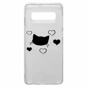 Phone case for Samsung S10+ Cat in love