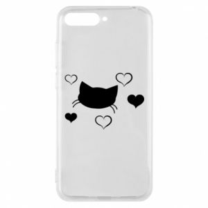 Phone case for Huawei Y6 2018 Cat in love