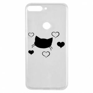 Phone case for Huawei Y7 Prime 2018 Cat in love