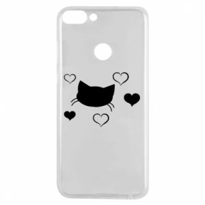 Phone case for Huawei P Smart Cat in love