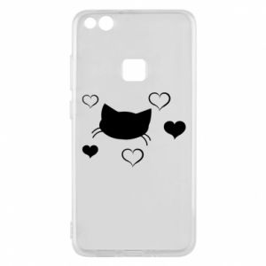 Phone case for Huawei P10 Lite Cat in love