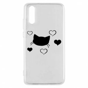 Phone case for Huawei P20 Cat in love