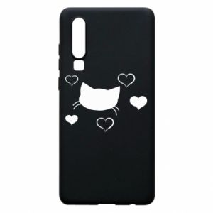 Phone case for Huawei P30 Cat in love