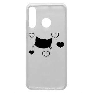 Phone case for Huawei P30 Lite Cat in love