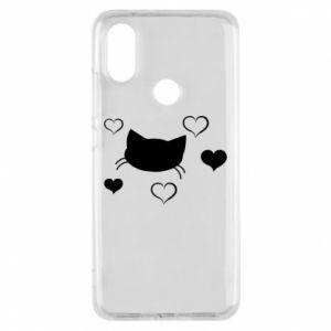 Phone case for Xiaomi Mi A2 Cat in love