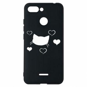 Phone case for Xiaomi Redmi 6 Cat in love