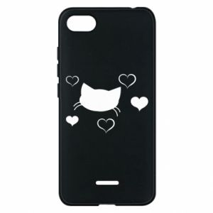 Phone case for Xiaomi Redmi 6A Cat in love