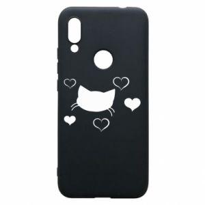 Phone case for Xiaomi Redmi 7 Cat in love