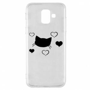 Phone case for Samsung A6 2018 Cat in love