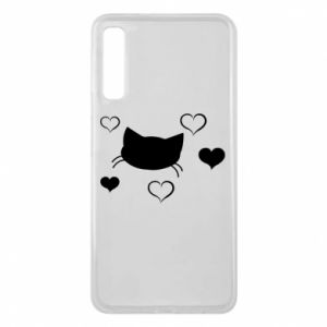 Phone case for Samsung A7 2018 Cat in love