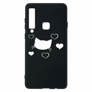 Phone case for Samsung A9 2018 Cat in love