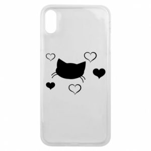 Phone case for iPhone Xs Max Cat in love