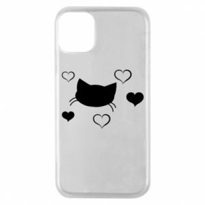 Phone case for iPhone 11 Pro Cat in love