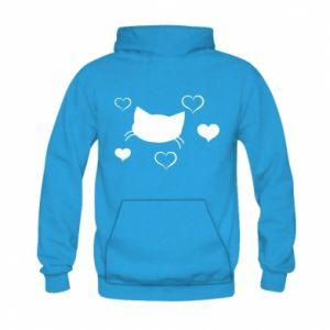 Bluza z kapturem dziecięca Zakochany kot